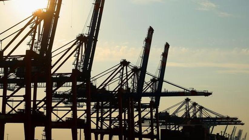 Containerbrücken im Hamburger Hafen