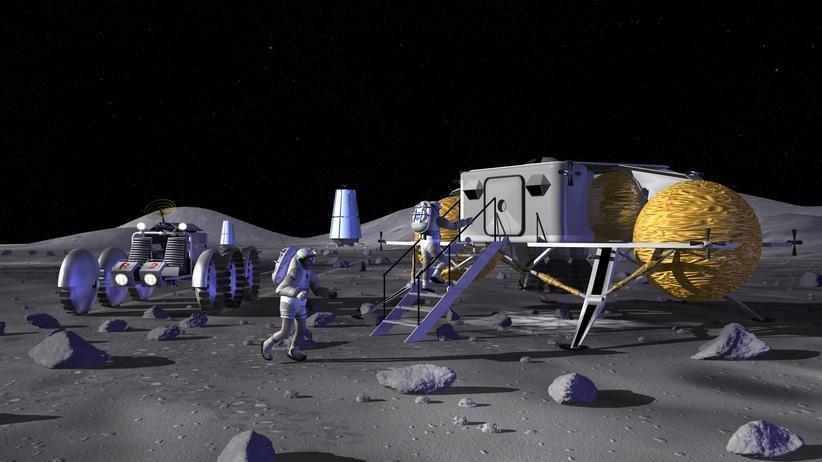 """Raumfahrt: Träume vom """"Mondhaus"""""""