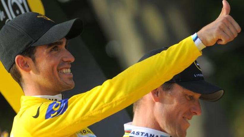 Alles gut: Der Spanier Alberto Contador gewann die Tour, obwohl seine Kontakte zum spanischen Dopingarzt Fuentes aktenkundig sind