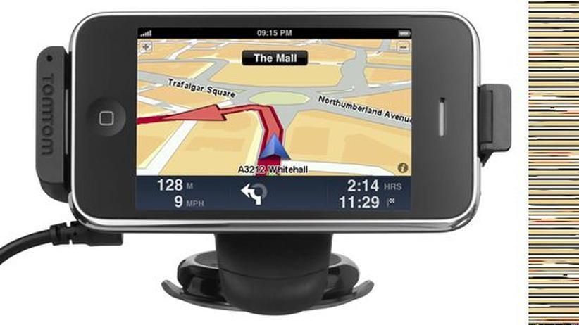 Die TomTom-Software für das iPhone gibt es schon, die Halterung noch nicht