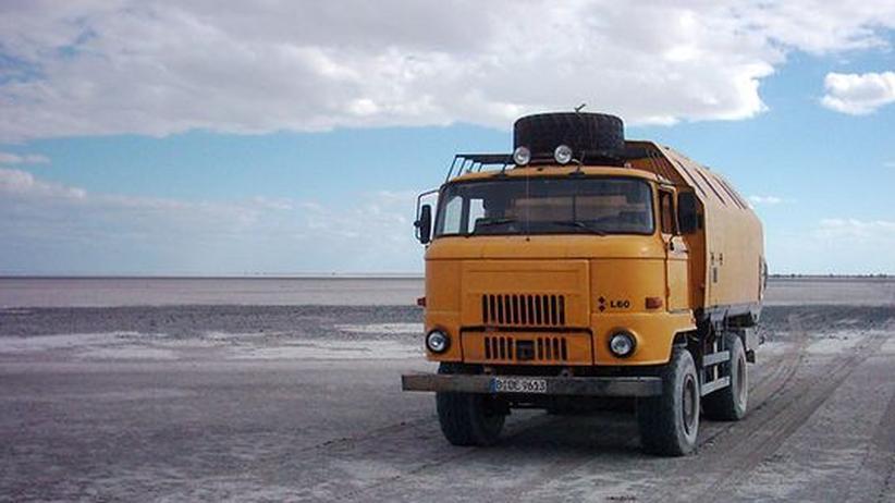 Der IFA-LKW in der Wüste