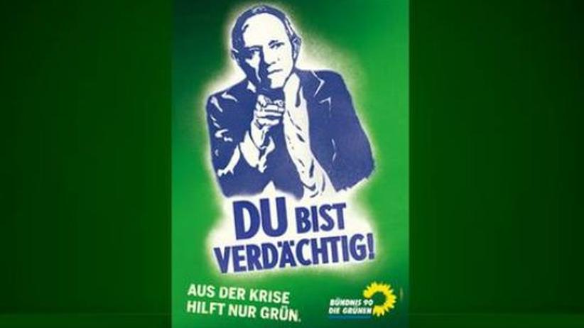 Die Grünen werben auch im Wahlkampf mit dem Thema Datenschutz und Vorratsdatenspeicherung