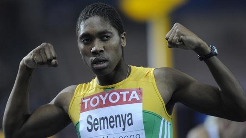 Caster Semenya nach ihrem Erfolg: Aber ist die 18-Jährige überhaupt eine Frau?