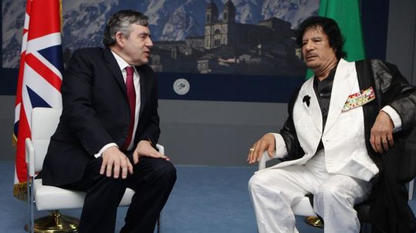 Gordon Brown und Muhamar al-Gadhafi