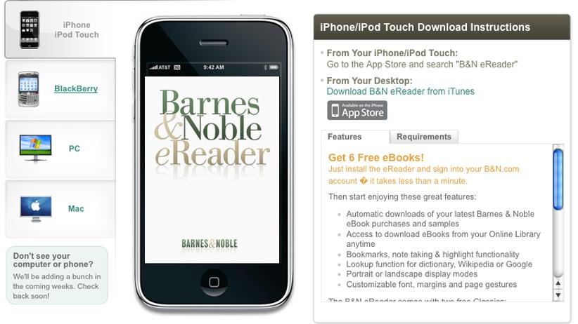 EBook B&N Reader: Handy als Taschenbuch