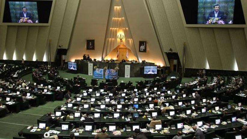 Präsident Ahmadineschad Iran Parlament