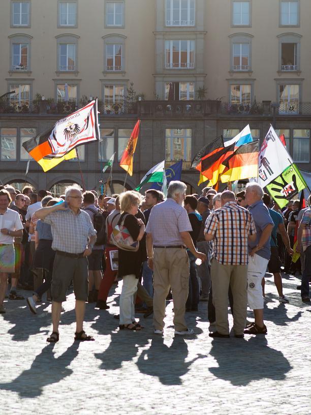 Pegida: Seit knapp zwei Jahren demonstriert Pegida regelmäßig in Dresden.