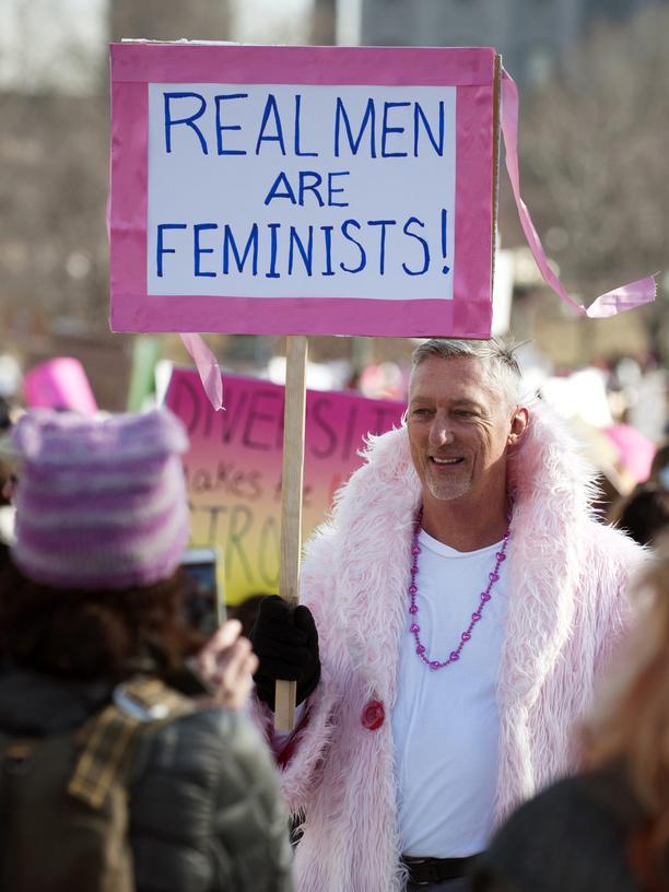 Feminist: Women's March im Januar 2017 in Denver, Colorado