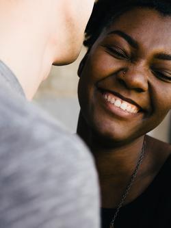 Schwarzes Paar macht Liebe