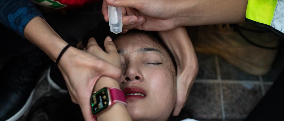 """Hongkong: """"Wenn ich meine Augen schließe, rieche ich Tränengas"""""""