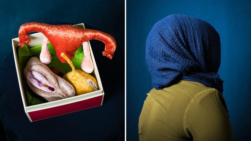 Genitalverstümmelung: Modell einer Vagina und Samira