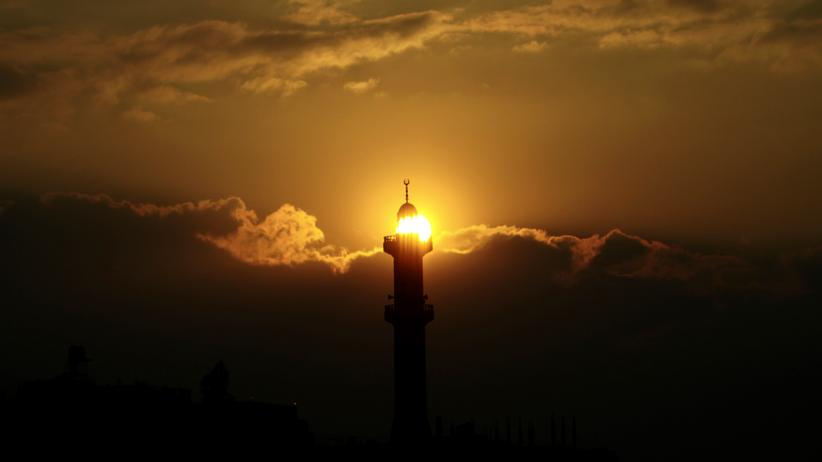 Minarett einer Moschee in Bethlehem