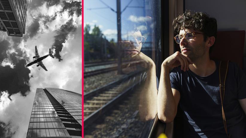 Flugreisen: Fliegen oder Zug fahren? Besser für die Umwelt wäre die Bahn.