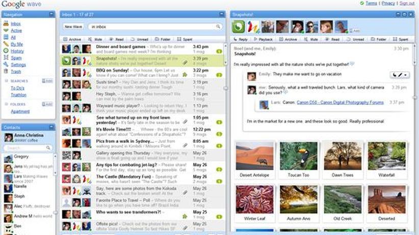 Google Wave: Nur Technikmuffel schreiben noch E-Mails
