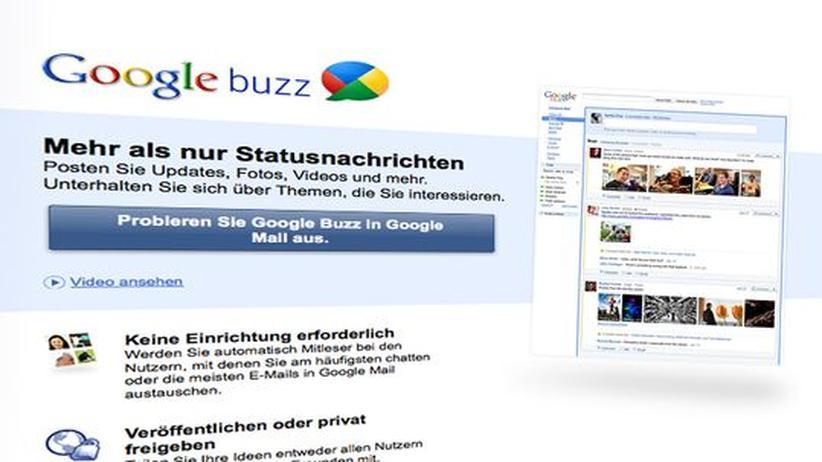 Google Buzz: Stottern statt summen