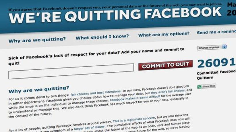 Soziale Netzwerke: Alle mal bei Facebook abmelden