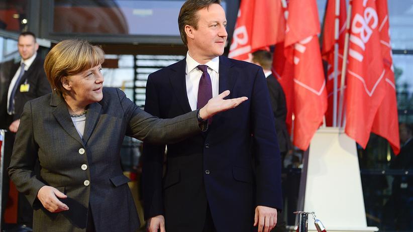 Angela Merkel und David Cameron während der Eröffnungsfeier der Cebit