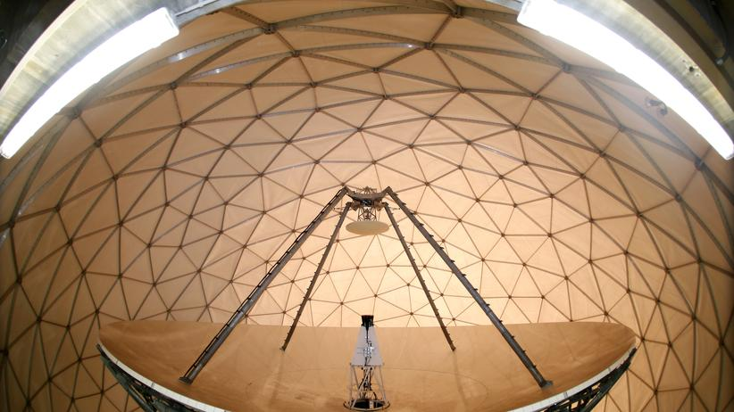 Bundesnachrichtendienst: A parabolic reflector with a diameter of 18.3 metres (60 ft.) is pictured at the former monitoring base of the National Security Agency (NSA) in Bad Aibling