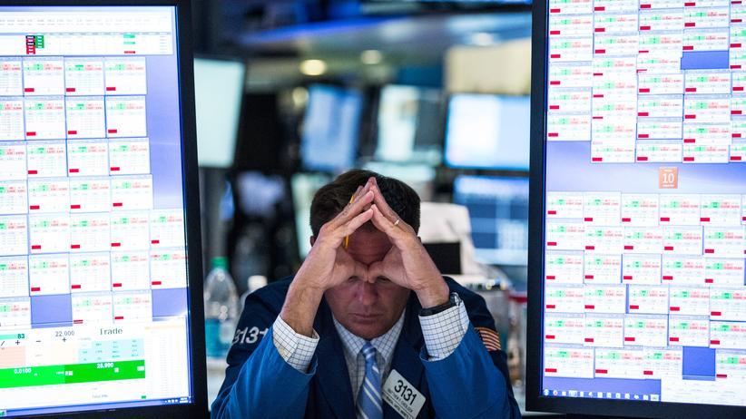 Ein Händler an der Börse in New York