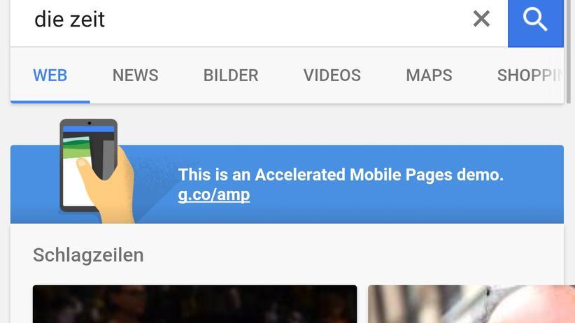 AMP: Google-Initative soll mobile Webseiten schneller machen