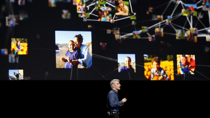 Privatsphäre: Apples Craig Federighi erklärte auf der WWDC, warum sein Unternehmen künftig Nutzerdaten sammelt, um sie auszuwerten.