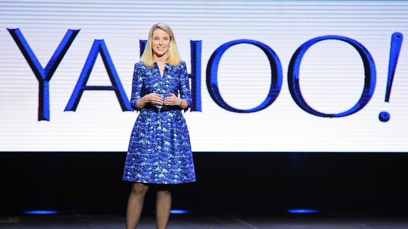 Altaba: Marissa Mayer bei der Vorstellung neuer Yahoo-Produkte 2014 in Las Vegas