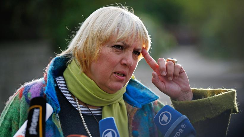 Claudia Roth: Claudia Roth, Bundestagsageordnete der Grünen.