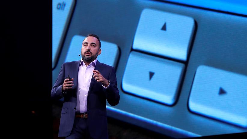 Alex Stamos, Sicherheitschef von Facebook, auf einer Konferenz im Sommer 2017