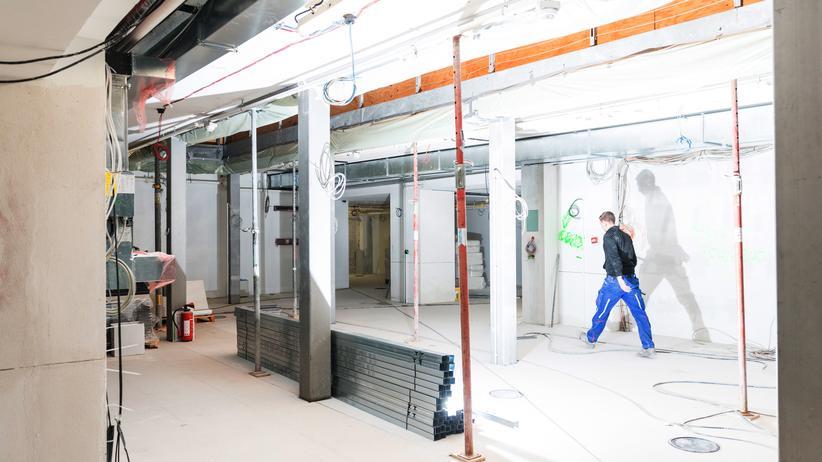 Google Campus: Google in Kreuzberg: Auch die Baustelle eines Tech-Unternehmens ist eben eine Baustelle.