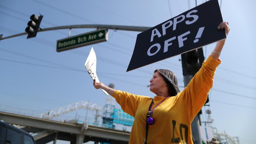 Alex Rosenblat: Erst im März 2019 hatten Uber- und Lyft-Fahrer in Kalifornien gegen Preissenkungen gestreikt.