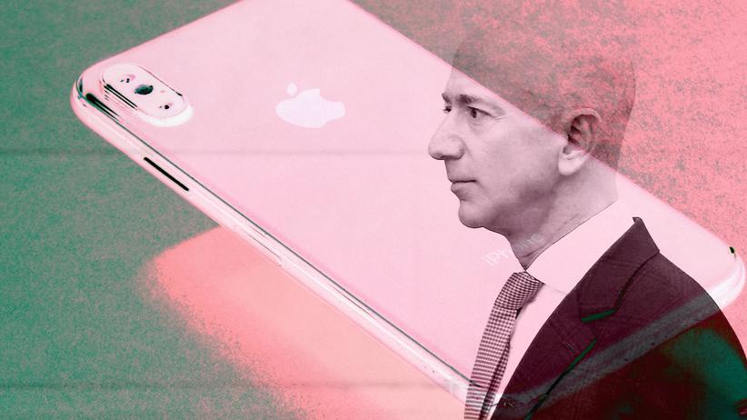Hackerangriff: Auch Technologieunternehmer sind offenbar nicht vor Hacks geschützt. Das zeigt das Beispiel von Jeff Bezos und seinem iPhone X.