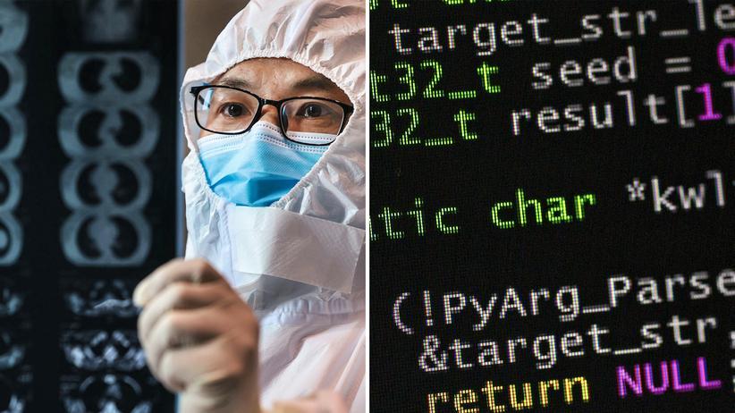 Covid-19: Ein Arzt in China untersucht eine CT-Aufnahme. Künstliche Intelligenz kann ihn dabei unterstützen.