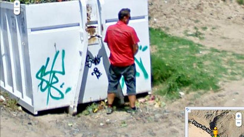 Das Bild von der Pinkelpause machte ein Street-View-Fahrzeug auf Hawaii. Google hat es inzwischen aus dem Dienst entfernt