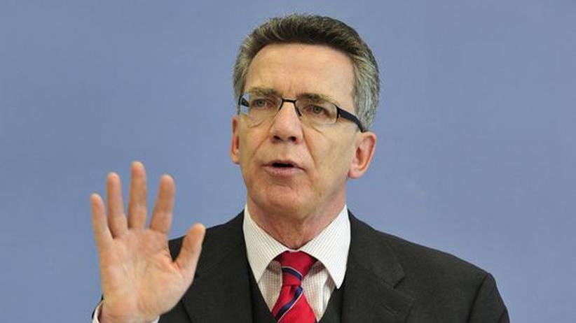 Der selbst ernannte Internetminister Thomas de Maizière
