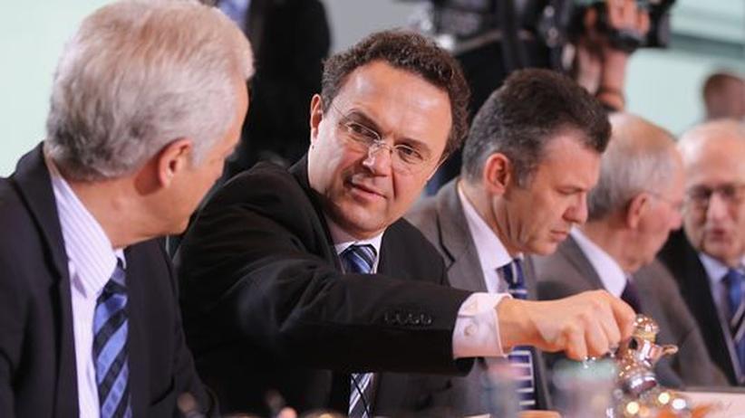 Innenminister Hans-Peter Friedrich (CSU) bei einer Kabinettssitzung