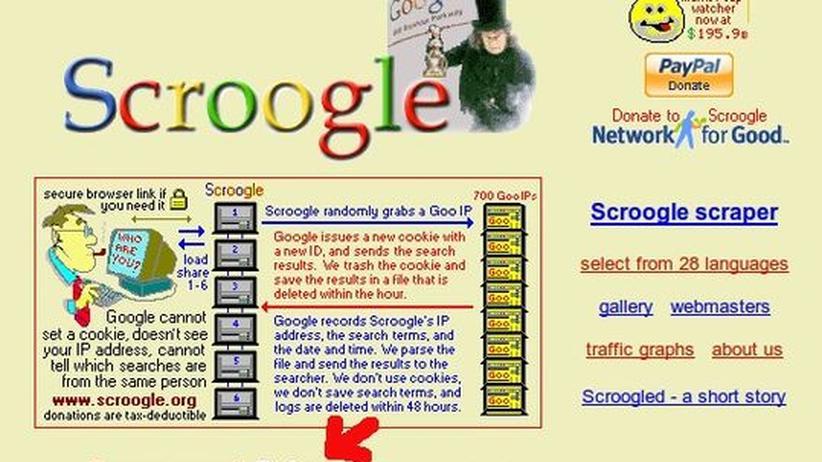 Suchmaschine: Anonymisierungsdienst Scroogle ist für immer abgeschaltet