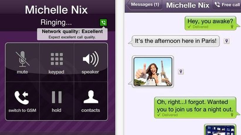 Telefon-App Viber: Die App Viber funktioniert ähnlich wie Skype, sammelt dabei aber sehr viele Nutzerdaten.