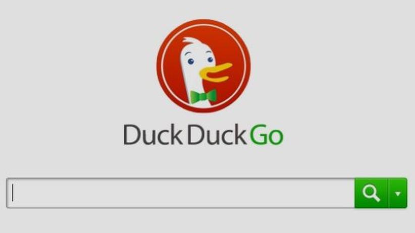 Suchmaschine: Die Startseite der Suchmaschine DuckDuckGo