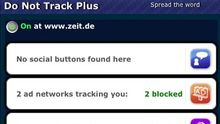 """Das Firefox-Add-on """"Do Not Track Plus"""" in Aktion"""