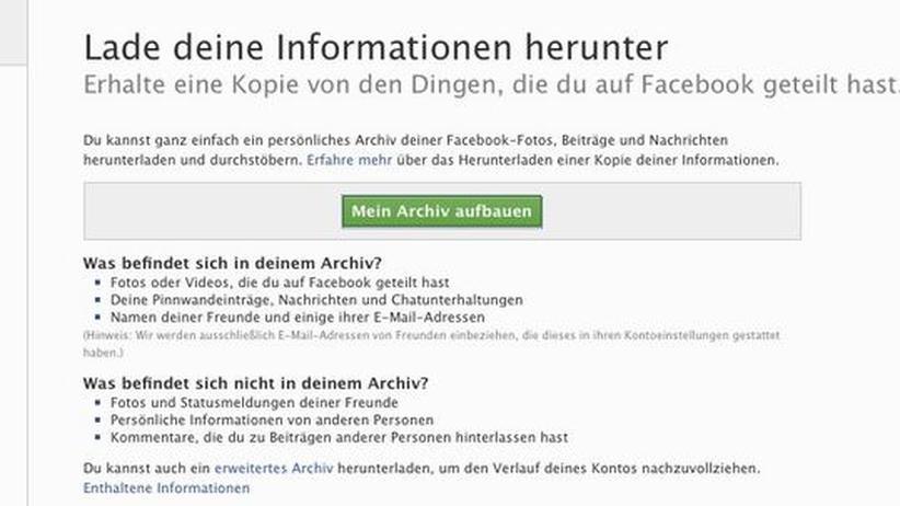 Nutzerdaten: Facebook erweitert Download von persönlichen Daten