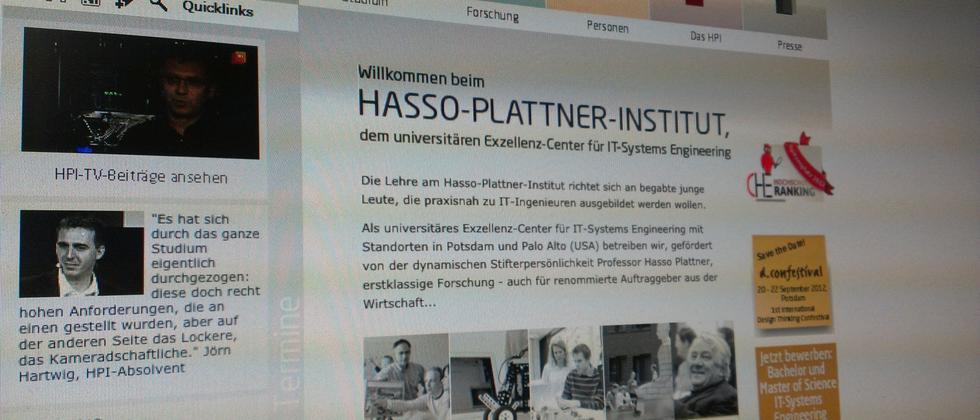 Website des Hasso-Plattner-Instituts