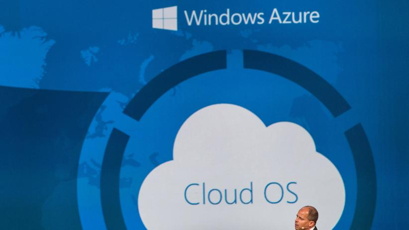 Microsoft: Brad Anderson, Vize-Präsident der Microsoft Windows Server and System Center Group bei einem Vortrag über Cloud Computing