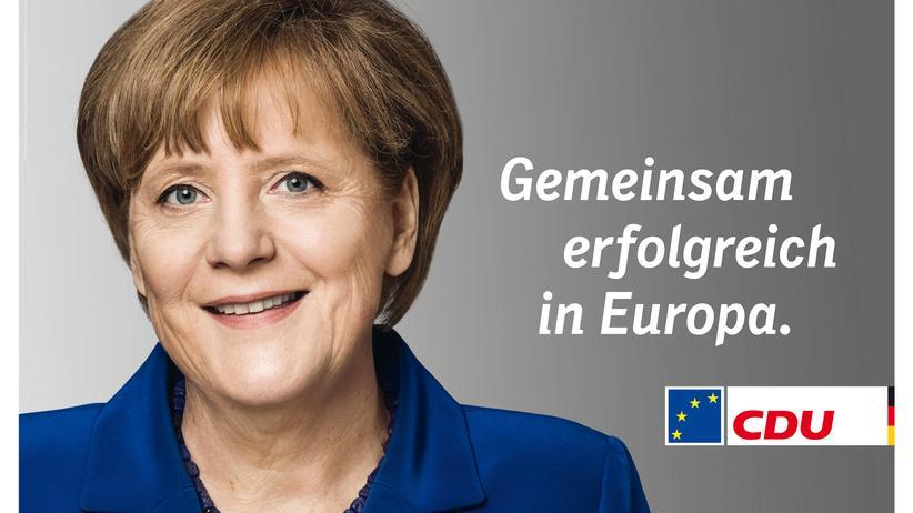 Biometrie: Wahlplakat für Angela Merkel – eine hervorragende Vorlage, um Irisscanner zu täuschen