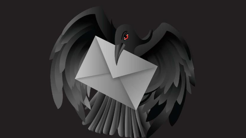 E-Mail: Eine schwarze Taube ist das Symbol des geplanten Mail-Standards der Dark Mail Alliance.