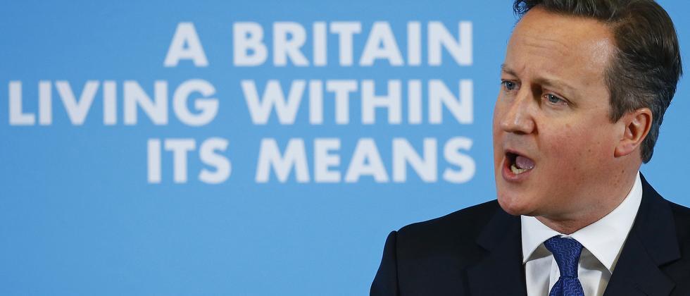 David Cameron während eines Auftritts in Nottingham.