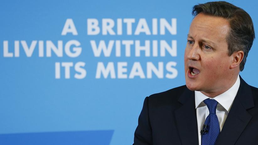 Terrorbekämpfung: David Cameron während eines Auftritts in Nottingham