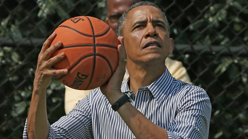 US-Präsident Barack Obama beim Basketballspielen