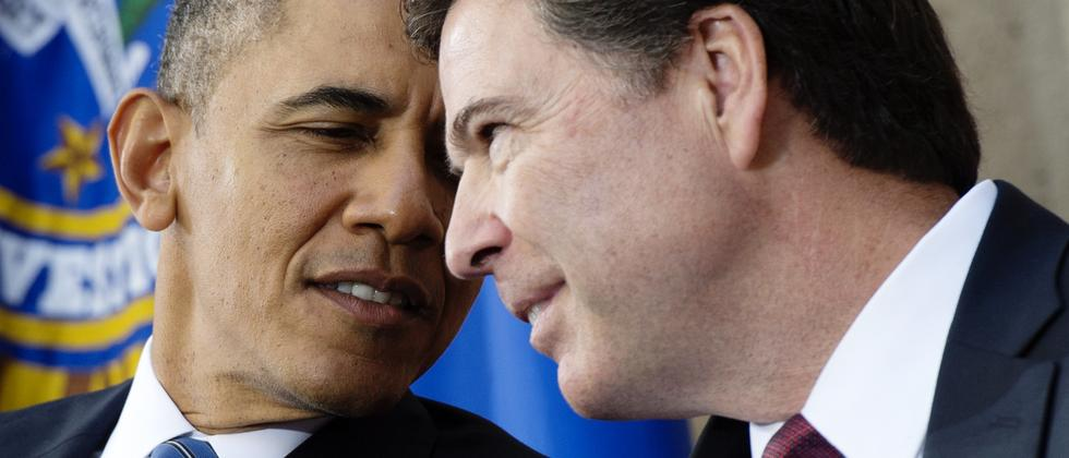 FBI-Direktor James Comey mit US-Präsident Barack Obama (Archivbild).