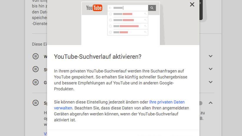Erfreulich: Google fragt vor der Aktivierung noch einmal nach.