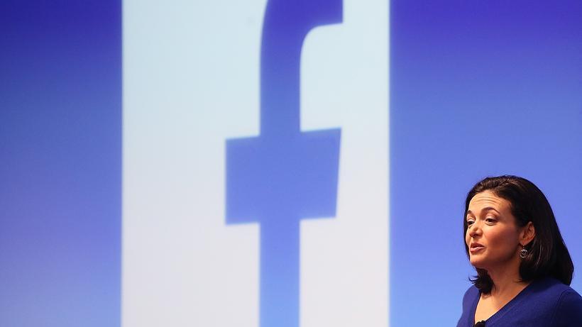 Facebook Facebook Coo Sheryl Sandberg Archivbild Von